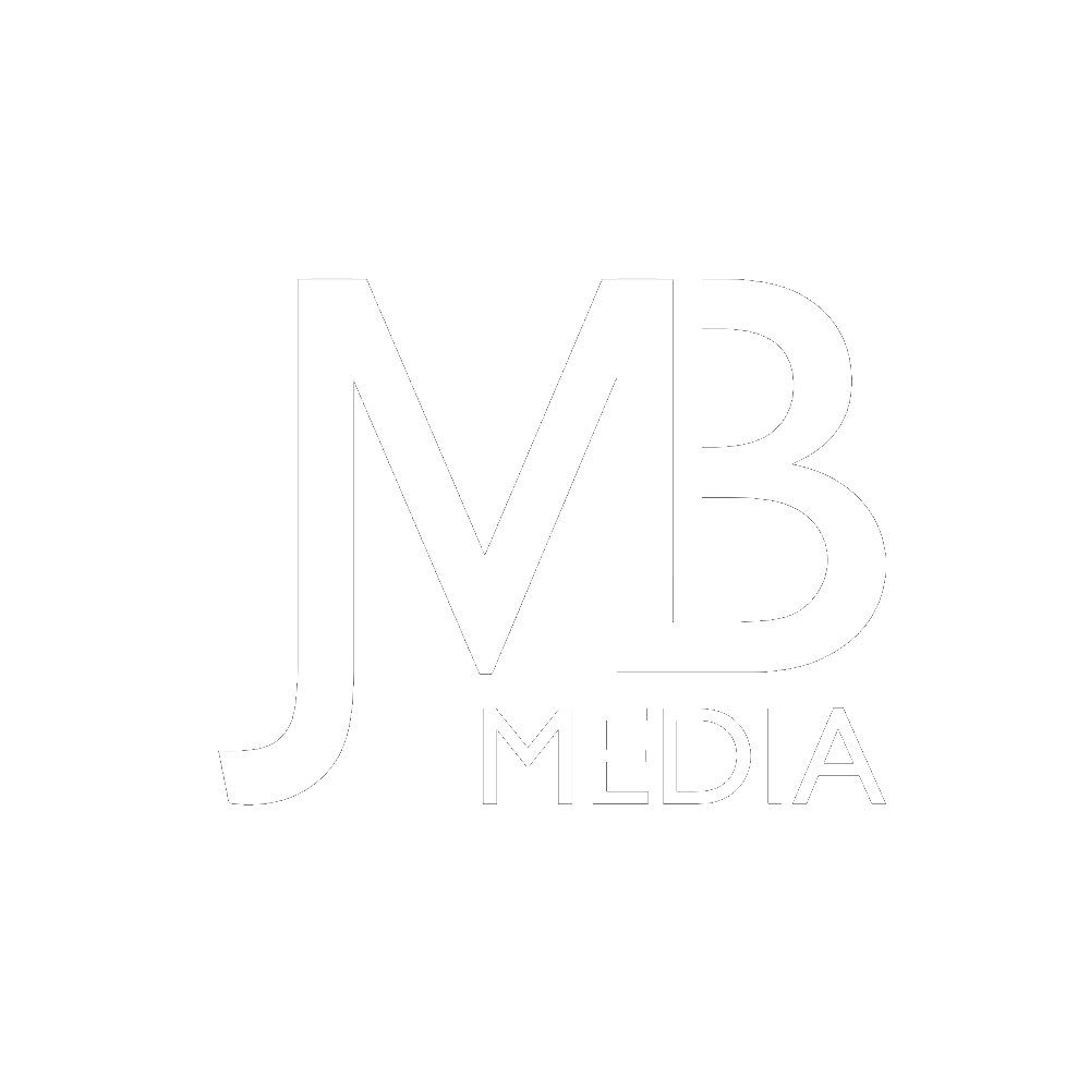 JMB MEDIA Logo - white